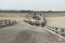 Taliban destroyed bridge